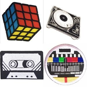 Accessories - Retro Patches, Iron On, Rubiks, Cassette DIY